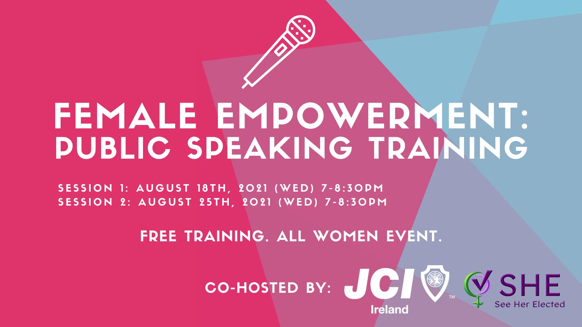 Female Empowerment Public Speaking Training