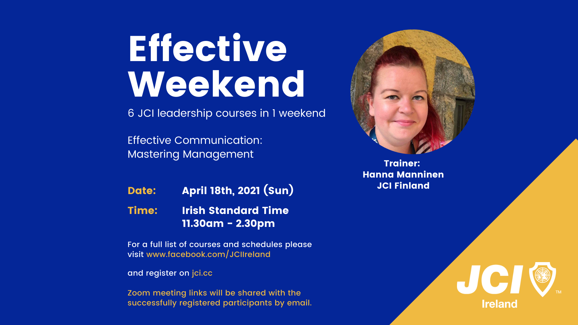Effective Weekend 2021 - Effective Communication: Mastering Management