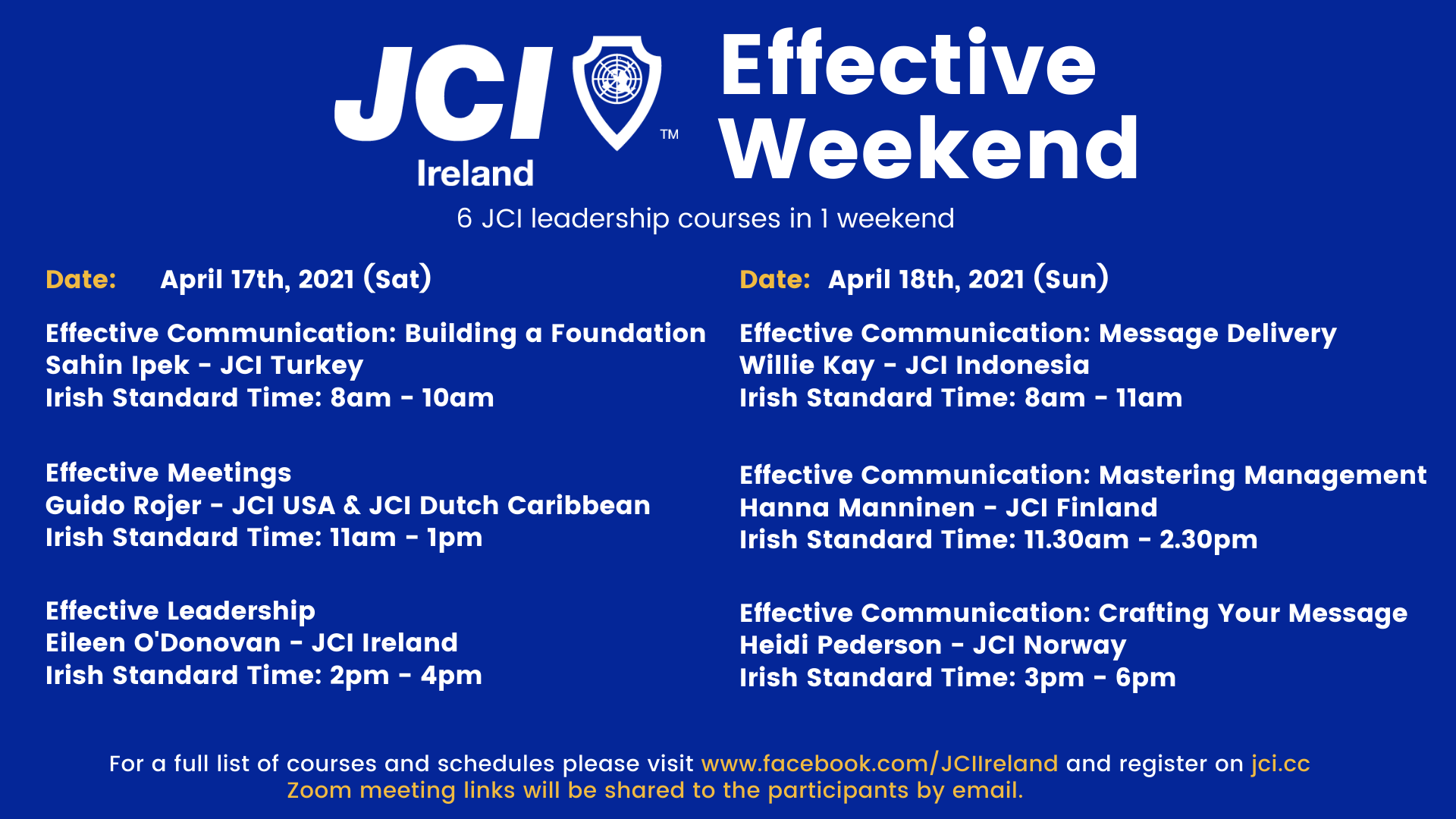 Effective Weekend 2021 - Effective Leadership