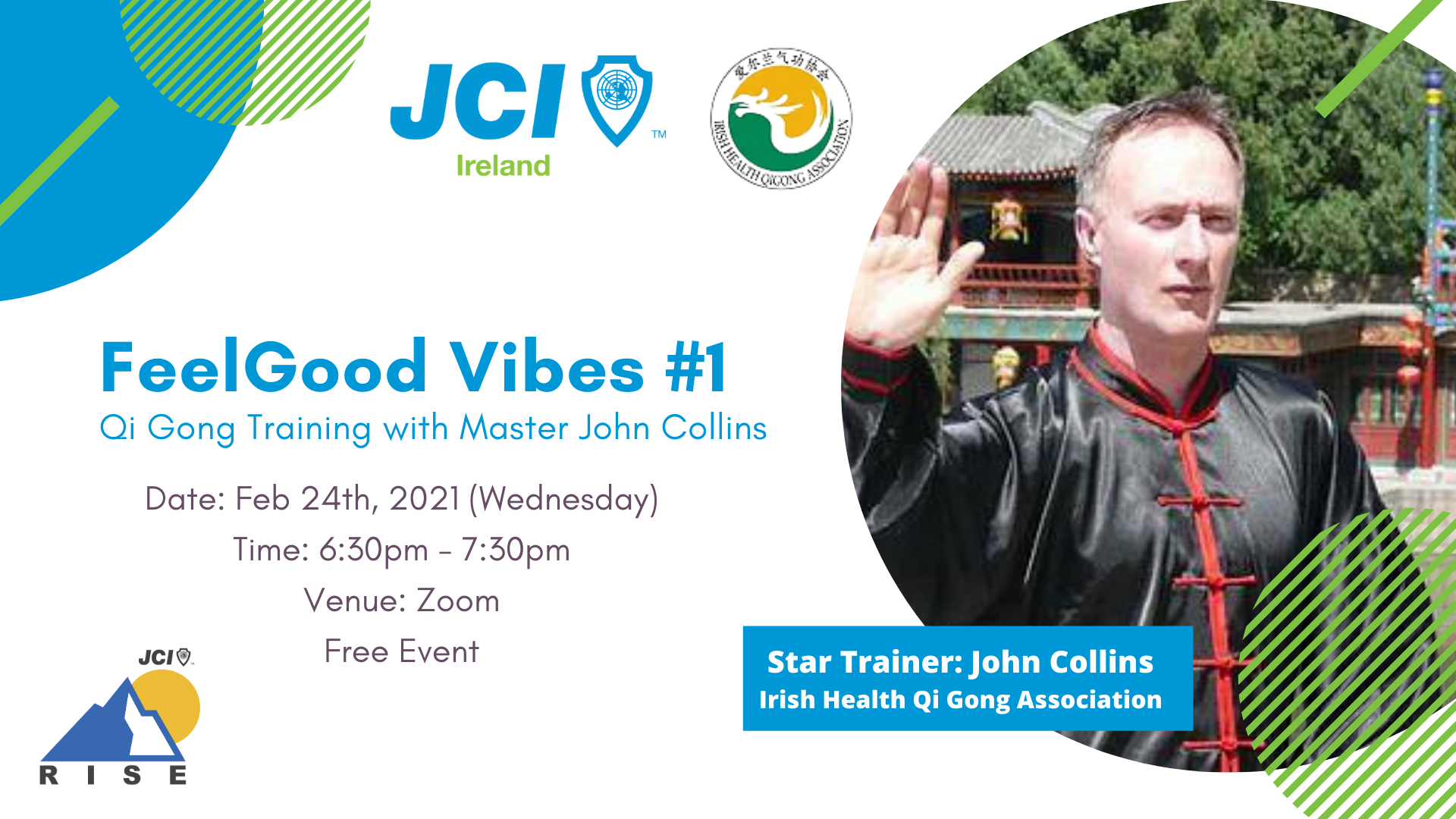 FeelGood Vibes #1 Qi Gong Training with Master John Collins