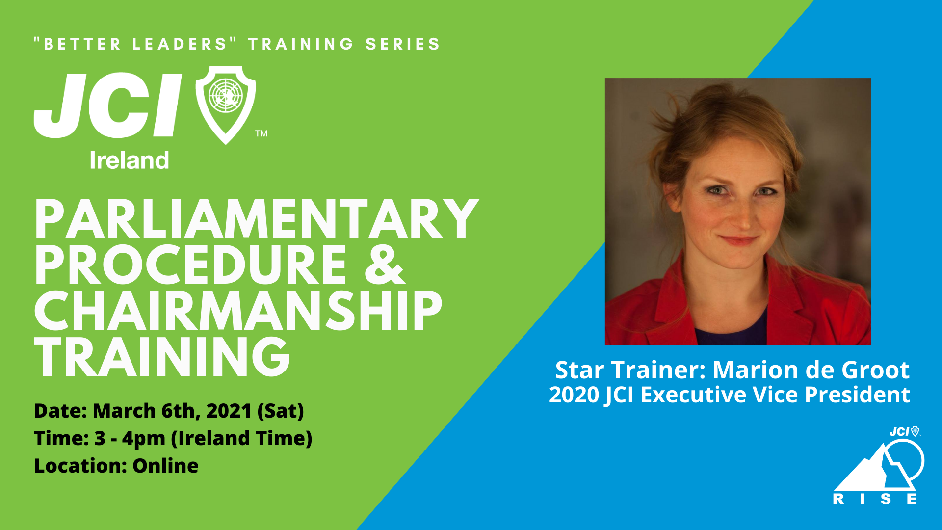 JCI Ireland Parliamentary Procedure & Chairmanship Training