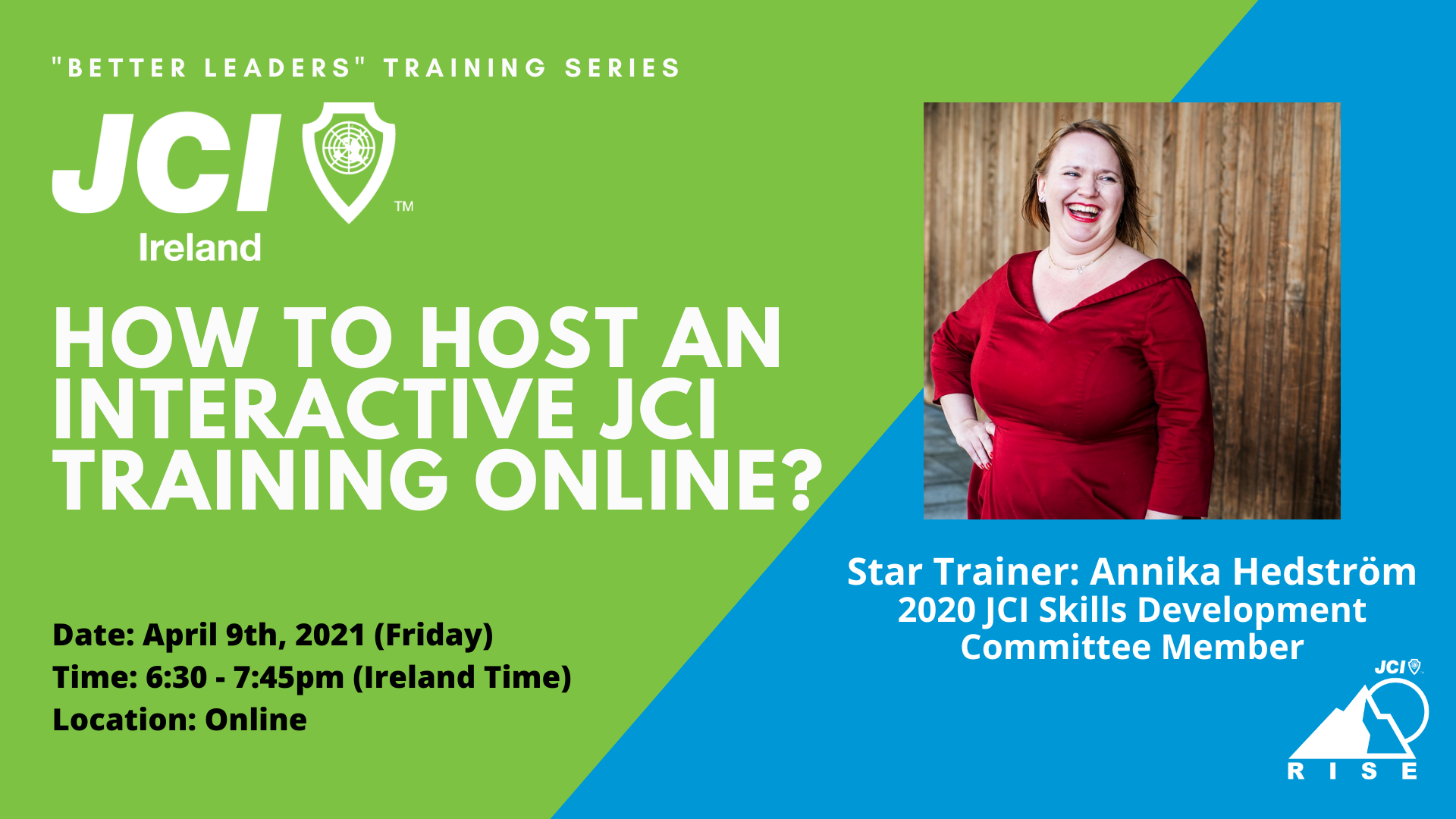 How to host an interactive JCI training online?